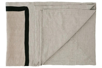 VILLA BED COVER NATURAL / SILVER GREY
