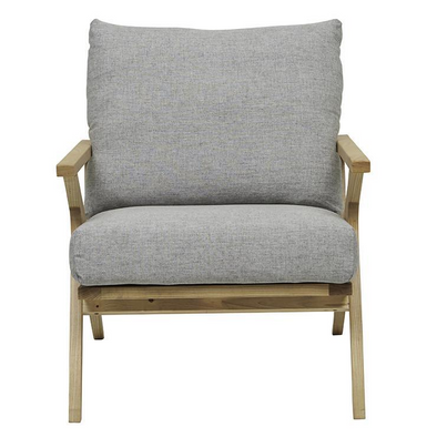 Vittoria Folk Occasional Chair Pale Grey