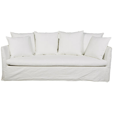 Vittoria Slip Cover 3 Seater Sofa Milk