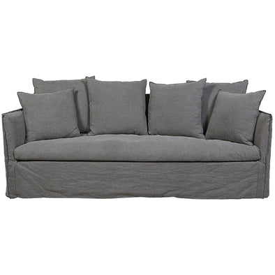 Vittoria Slip Cover 3 Seater Sofa Washed Smoke