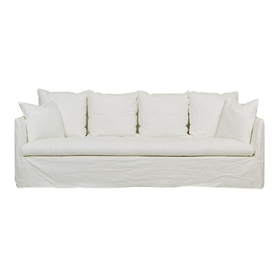 Vittoria Slip Cover 4 Seater Sofa Milk