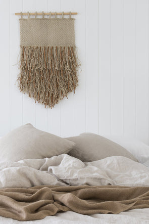 Wall Hanging - Jute & Leather Fringe (Pre Order)