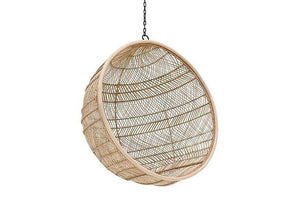Natural Hanging Bowlchair Natural Bohemian