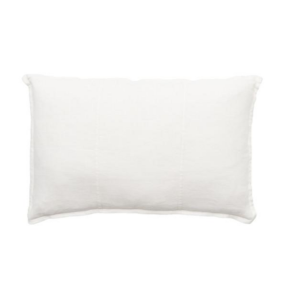LUCA LINEN RECT. CUSHION WHITE