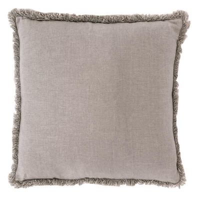LUCA BOHO CUSHION SILVER GREY