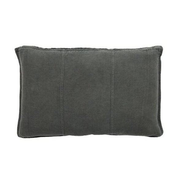 LUCA LINEN RECT. CUSHION COAL