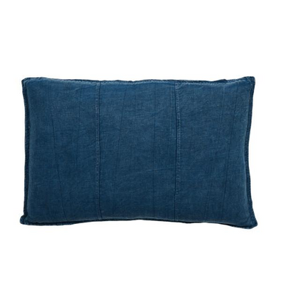 LUCA LINEN RECT. CUSHION NAVY