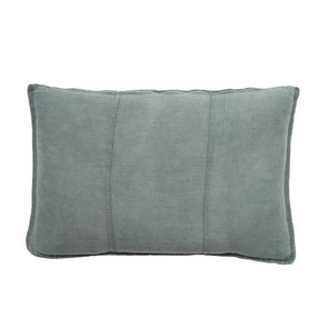 LUCA LINEN RECT. CUSHION SILVER GREY