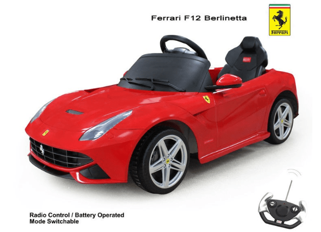 Licensed Ferrari F12 Berlinetta 6v Battery