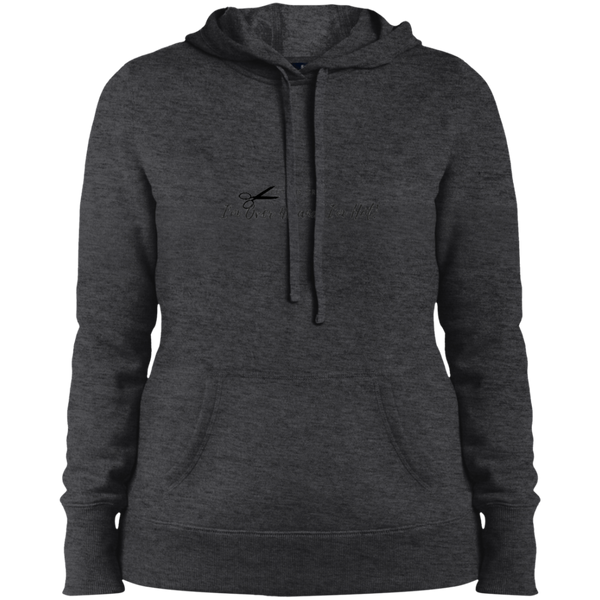 Cut the Crap; I'm Over 40 and I'm Hot! - LST254 Sport-Tek Ladies' Pullover Hooded Sweatshirt