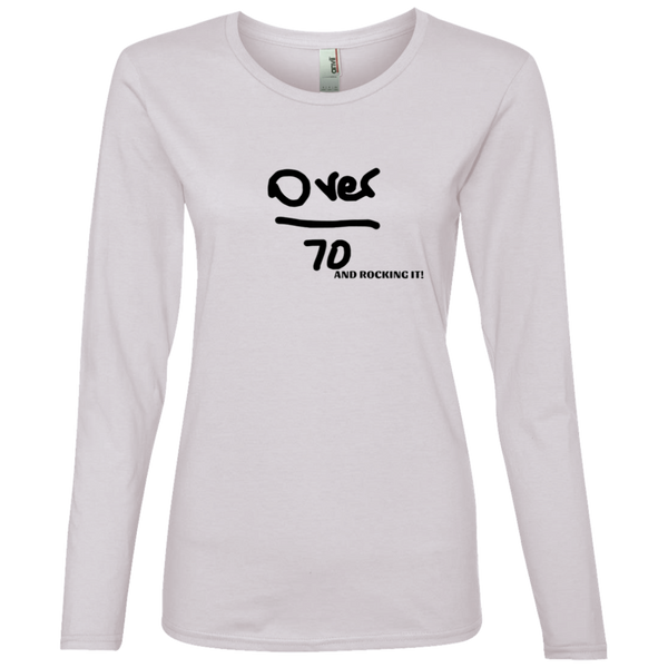 884L Anvil 'Over 70 and Rocking it' Ladies' Lightweight LS T-Shirt
