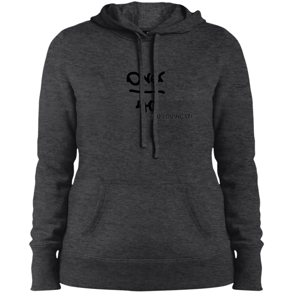 Over 40 and Rocking It - LST254 Sport-Tek Ladies' Pullover Hooded Sweatshirt