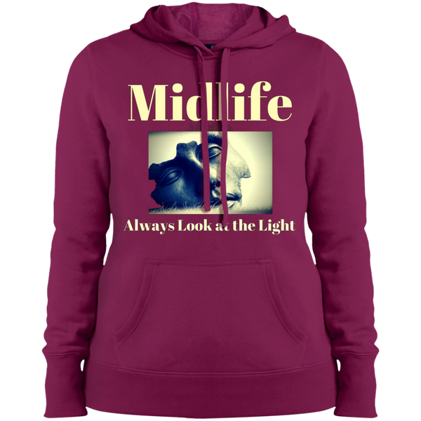 Midlife - Always Look at the Light - LST254 Sport-Tek Ladies' 'Look at the Light' Pullover Hooded Sweatshirt