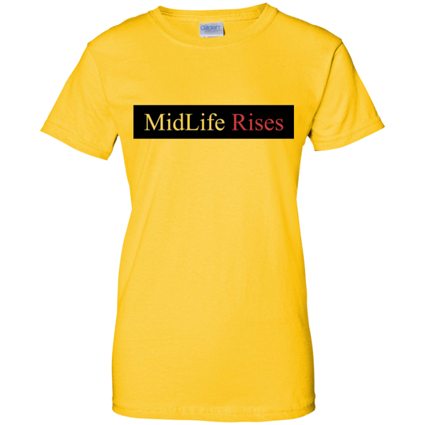 Midlife Rises! G200L Gildan Ladies' 100% Cotton T-Shirt