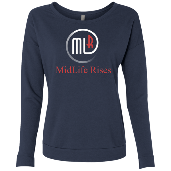 Midlife Rises With Logo - NL6931 Next Level Ladies' French Terry Scoop