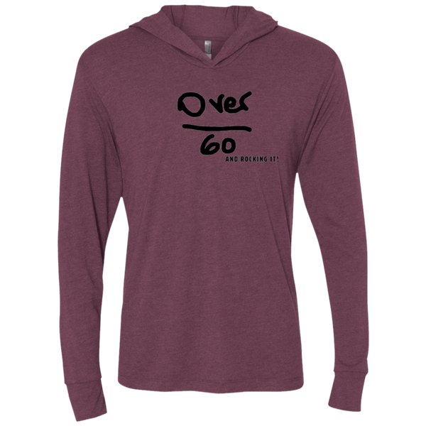 NL6021 Next Level Unisex Over 60 Triblend LS Hooded T-Shirt