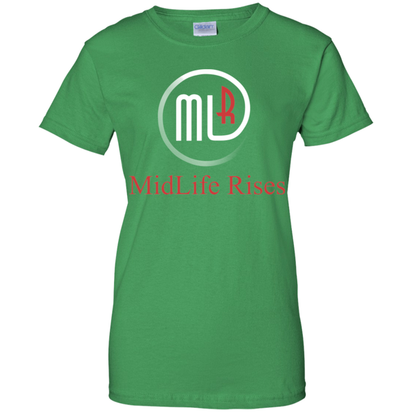 Midlife With Logo - G200L Gildan Ladies' 100% Cotton T-Shirt