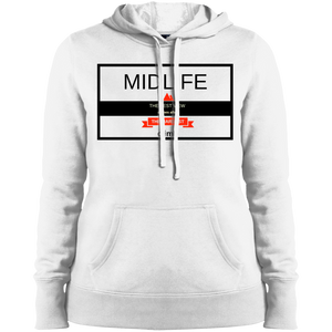 Midlife - The Hardest Climb Gives the Best View - LST254 Sport-Tek Ladies' Pullover Hooded Sweatshirt