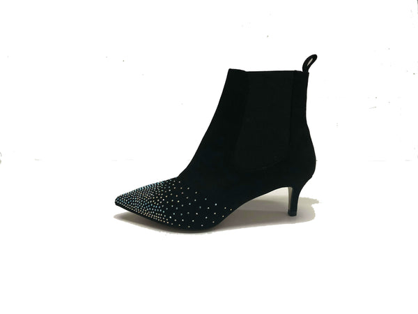 Pointy Toe Kitten-Heel-Dress Boots