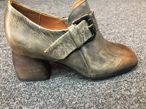 Grey and Brown Alligator Shoes