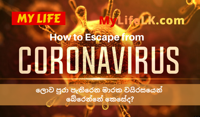 How to escape from Coronavirus