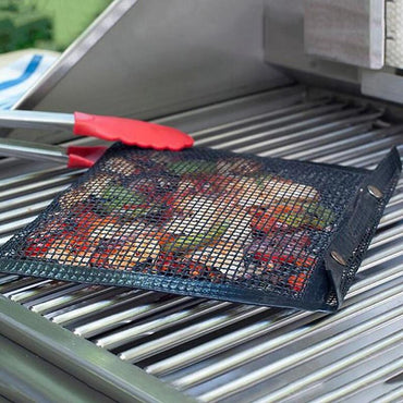 (Global Shop) Grilling Reusable BBQ Fruit Vegetable Meat Bag