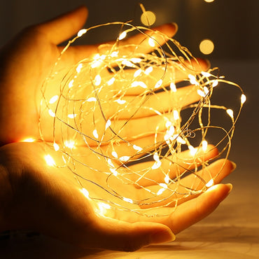 (Global Shop) Copper Wire LED String Fairy Night Lights