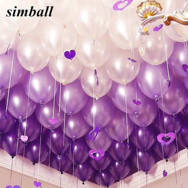 (Global Shop) 10pcs Inflatable Latex Birthday Party Balloons