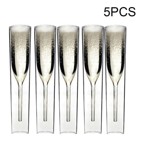 (Global Shop) Luxury Flutes Champagne Innovative Clear Wine Glass