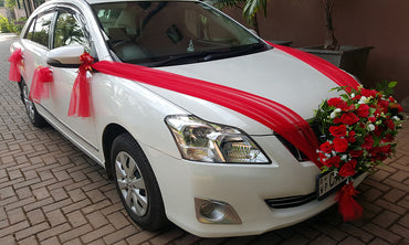 White Color Toyota Premio Car for Hire