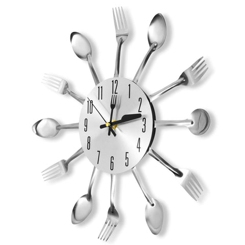 (Global Shop) Novel Stainless Steel Knife Fork Spoon Analog Wall Clock - Chinabrands - mylife-sa.myshopify.com
