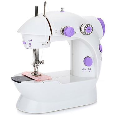 (Global Shop) 202 Mini Sewing Machine Double Speed Automatic Thread with Light