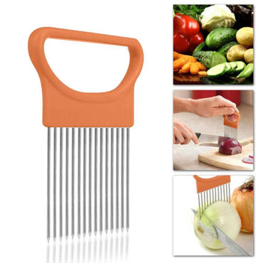 (Global Shop) Onion Tomato Vegetables Safe Fork Cutting Slicer - My Life