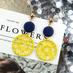 (Global Shop) Fashion Luxury Simple Big Round Earrings