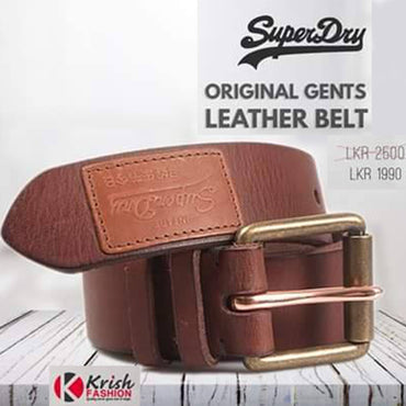 Brown Color Original Leather Men's Belt - Krish Fashion - mylife-sa.myshopify.com