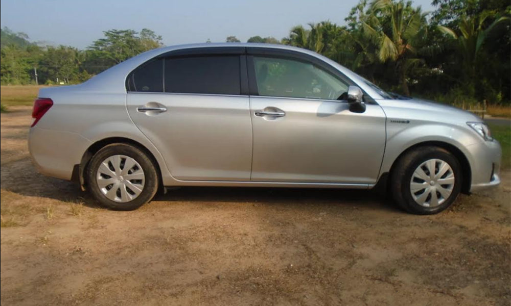 Ash Color Toyota Axio Car for Rent