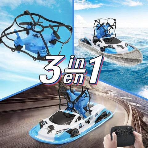3 In 1 RC Drone Boat Car Water Ground Air Mode Three Modes Headless Mode Altitude Hold RC Helicopters Toys For Kids - My Life