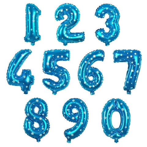 32 Inch Big Foil Birthday Balloons Air Helium Number Balloon Figures Happy Birthday Party Decorations Kid Baloons Birthday Balon - My Life