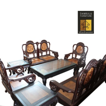 Antique Style Elegant Teak Chair Set - Dambulu Furniture - mylife-sa.myshopify.com
