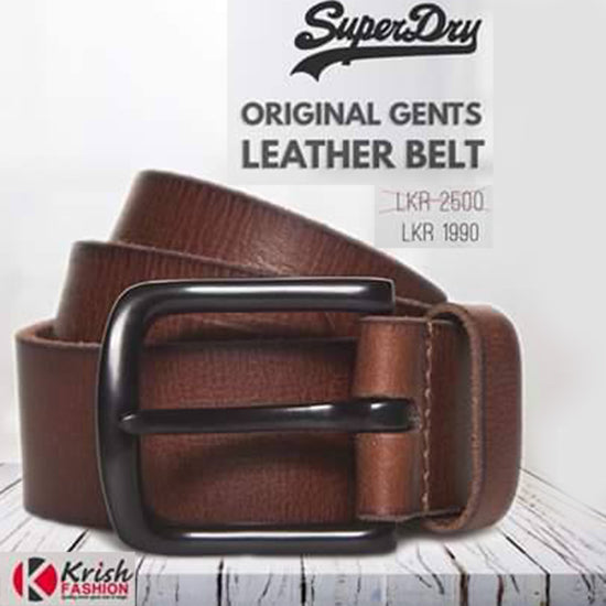 Original None Stretch Leather Gents Belt