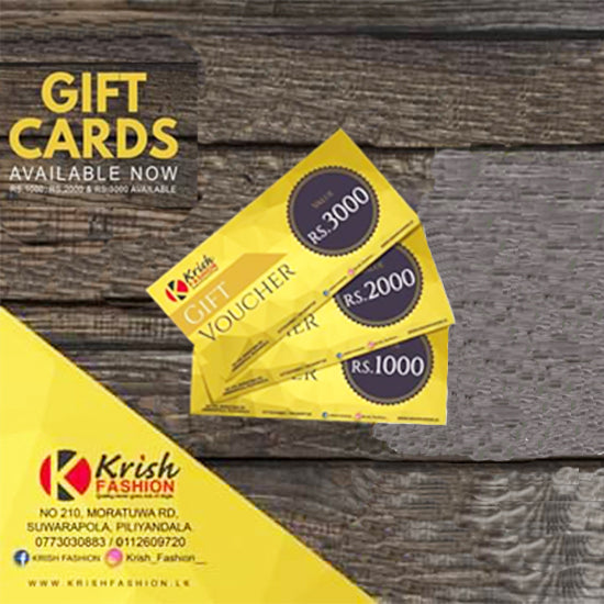 Krish Fashion Exclusive Gift Cards - Krish Fashion - mylife-sa.myshopify.com