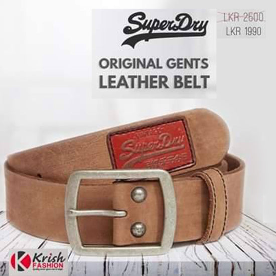 Light Brown Original Leather Men's Belt