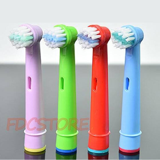 4pcs Replacement Kids Children Tooth Brush Heads For Oral-B Electric Toothbrush Fit Advance Power/Pro Health/Triumph/3D Excel - My Life