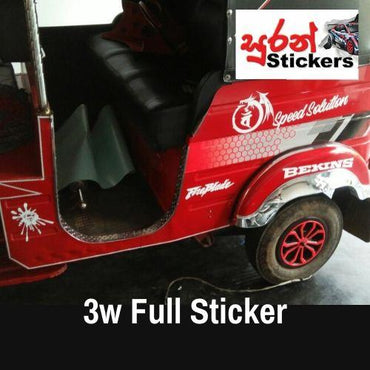 Three Wheeler 3w Best Elegant Full Stickers by Suran Stickers - Suran Stickers - mylife-sa.myshopify.com