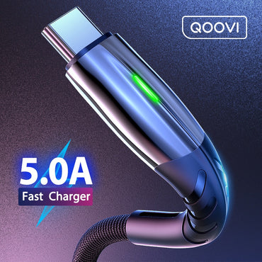 (Global Shop) 5A Type C Micro USB Fast Charging Cable