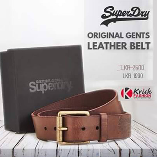 Chocolate Brown Color Men's Leather Belt - Krish Fashion - mylife-sa.myshopify.com