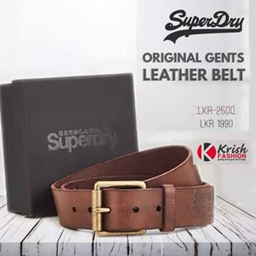 Chocolate Brown Color Men's Leather Belt