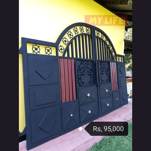 Metal Black Painted Garden Driveway Gates - New Hiru Enterprises - My Life