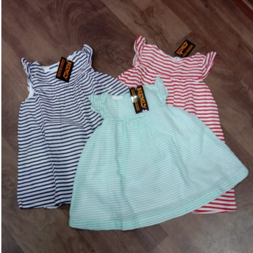Kids Girls Striped Printed Dress