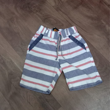 Elastic Waist Striped Kids Unisex Pocket Short by Seemly